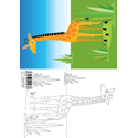 Animal Colouring Card Giraffe A5