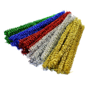Curly Pipe Cleaners Metallic Assorted 50 Pack