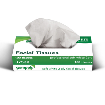 Gompels Wave Facial Tissue 2ply 100 x 36