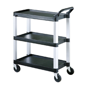 Clearing Trolley 3 Shelves Black