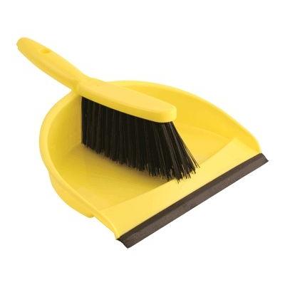 Dustpan & Brush Set - Colour: Yellow