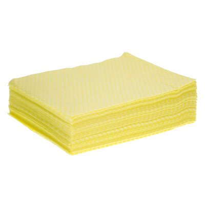Cleaning Cloth 50 Pack - Colour: Yellow