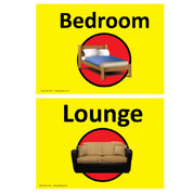 Dementia Sign Lounge/Bedroom
