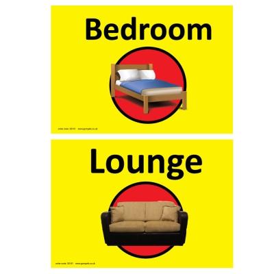 Dementia Sign Lounge/Bedroom