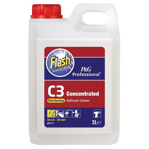 Flash Professional C3 Disinfecting Bathroom Cleaner 2l Gompels Healthcare