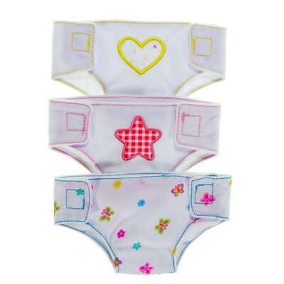 Doll's Fabric Nappies 3 Pack
