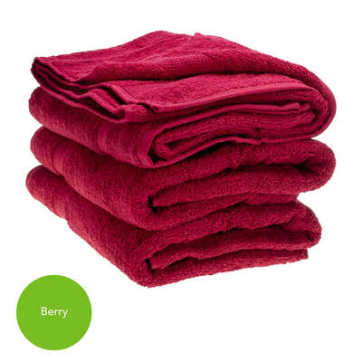 Bath Towel 70x130cm 500gm x 3 - Colour: Berry