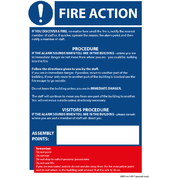 Fire Action / COSHH Golden Rules Sign A5