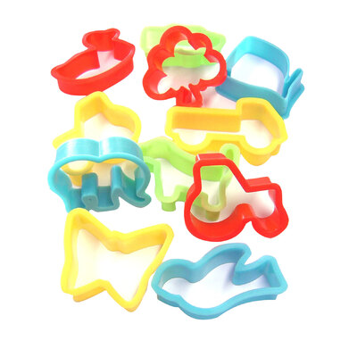 Plastic Cookie Cutters Set of 12