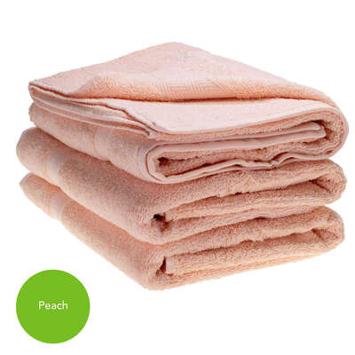 Bath Towel 70x130cm 500gm x 3 - Colour: Peach