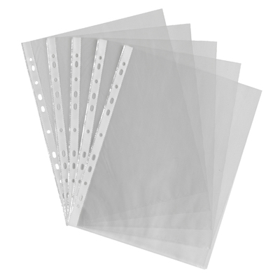 Punched Pockets A4 Clear 500 Pack
