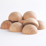 Wooden Semisphere 40mm 10 Pack