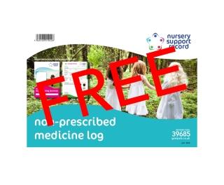 Non-Prescribed Medicine Log A4 x 50