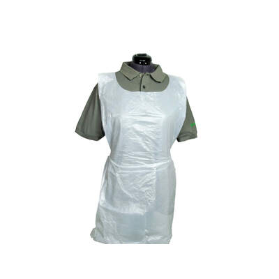 Proform Disposable Polythene Aprons Flat 100 Pack - Colour: White