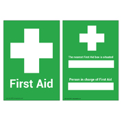 First Aid/Nearest First Aid Box Sign A5 Wipe Clean