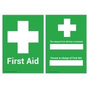 First Aid/Nearest First Aid Box Sign A5 Wipe Clean