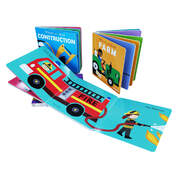 Wheels At Work Assorted Board Books With Flaps 4 Pack