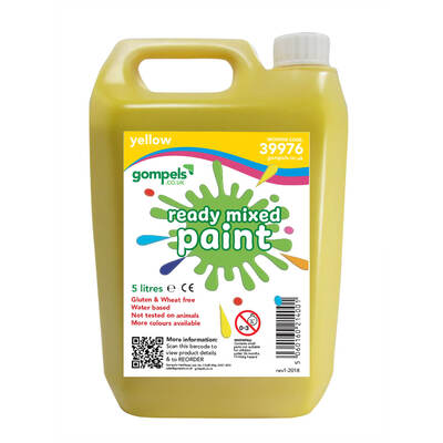 Ready Mixed Poster Paint 5ltr - Colour: Yellow