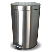 Gompels Pedal Bin Matte Stainless Steel 12l