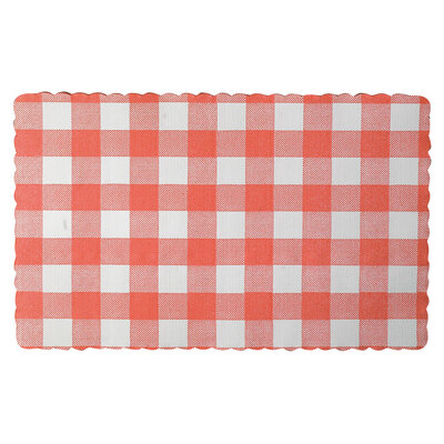 Placemats 23 x 37cm Red Gingham 250pk
