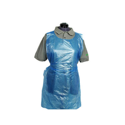 Proform Disposable Polythene Aprons Flat 100 Pack - Colour: Blue