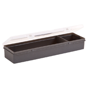 Rectangular Organiser Two Compartments Clear