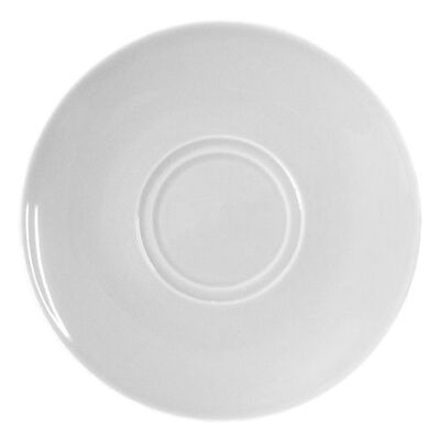 """Saucer 6"""" / 16cm White 6 Pack"""