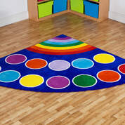 Rainbow Corner Carpet 2x2m