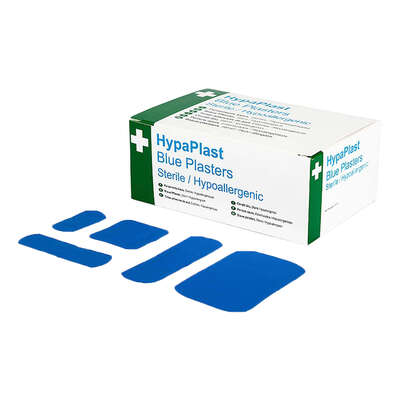 Blue Detectable Plasters Assorted 100 Pack