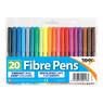 Colouring Fibre Tip Pens 20pk