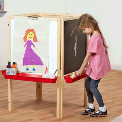 Wooden Easel - Type: Four Sided