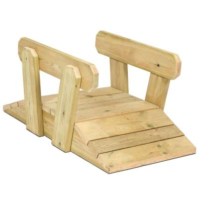 Wooden Outdoor Toddler Bridge