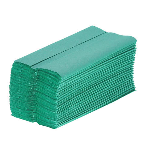C Fold Recycled Paper Hand Towels Green 1ply 5184