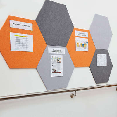 Eco Display Boards Hexagonal - Colour: Grey