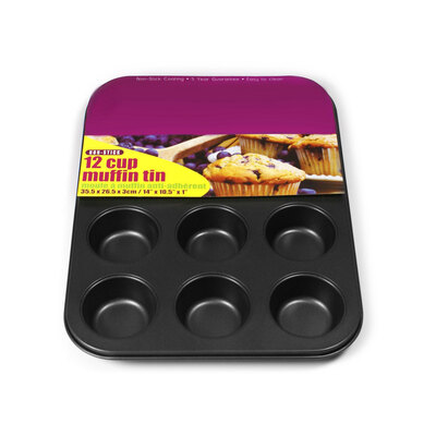 Muffin Tin 12 Cup Non Stick 355mm x 260mm