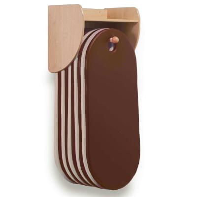 Wall Mounted Sleep Mat Unit With 10 Sleep Mats - Colour: Brown