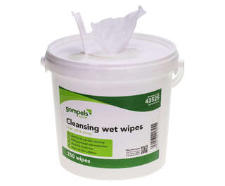 Gompels Moist Cleansing Wipes 20x28cm 250