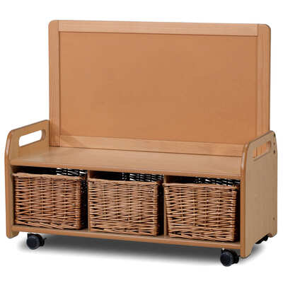 Low Display Storage Unit With Castors - Type: Baskets