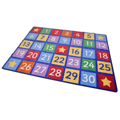 Numbers Rug Large 2.5m x 3.5m