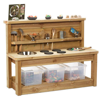 Wooden Mud Kitchen - Size: Large