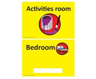 Personalised Bedroom/Activities Room Sign