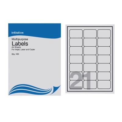 Multi Purpose Labels 63.5 x 38.1mm 21 Sheet 100 Pack