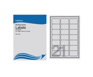 Multi Purpose Labels 63.5 x 38.1mm 21 Sheet 100pk