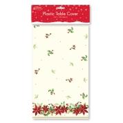 Christmas Table Cover Poinsettia Design