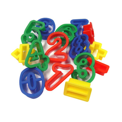 Plastic Numbers and Symbols Cutters Pack 15