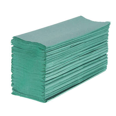Soclean Z Fold Recycled Paper Hand Towel Green 1ply 6000