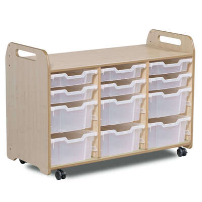 Tray Storage 3 Column H730mm With 6 Shallow and 6 Deep Trays
