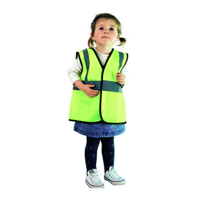 Childs Hi-Vis Vest Yellow - Age: 3-5 Years