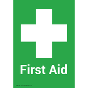 First Aid Box No Marking Adhesive Sign A5