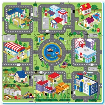 Foam Play Mat Tiles Road 9pc